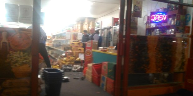 Police responded to an armed robbery at the Quality Food and Spices store in Cameron Rd, Tauranga.