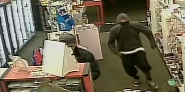 Two men entered the dairy and attempted to rob the attendant. Photo / Police