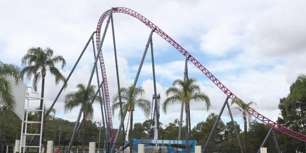 There is a new roller coaster under construction at Movie World. Photo / Richard Gosling