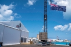 The Team New Zealand base in Bermuda is set apart from the other syndicates. Photo / Hamish Hooper