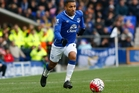 Former England winger Aaron Lennon has not played Premier League football for Everton since February. Photo / Photosport
