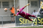 Auckland City goalkeeper Enaut Zubikarai has played senior football against Lionel Messi. Photo / Photosport.nz