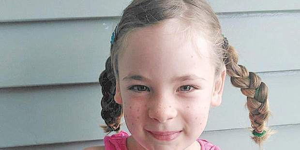 Carla Neems, 6, was killed by a recycling truck as she walked home from school shortly after 3pm on Tuesday. Photo/Supplied