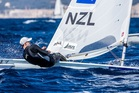 Sam Meech qualified for the medal race. Photo: Sailing Energy / World Sailing.