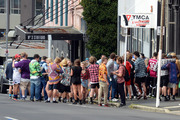 Police and ambulances called to a large party in Stafford Street, Dunedin. Photo / Linda Robertson