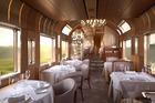 The restaurant of Japan's Shiki-shima train. Photo / jreast.co.jp