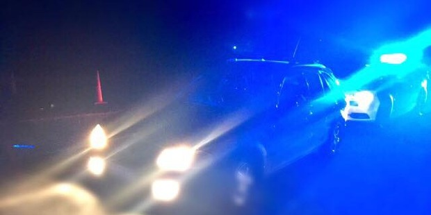 Police finally caught up with the car on Hickey Rd on the outskirts of Cambridge. Photo / Waikato Police
