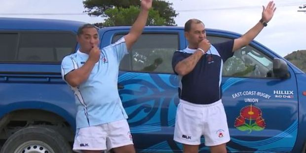 Loading Two East Coast rugby referees have recreated ref signals using traditional haka actions. Photo / Supplied