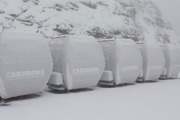 The new chondola, cabin style chair lifts, at Cardrona Ski Field were coated in snow overnight. Photo/Cardrona Alpine Resort