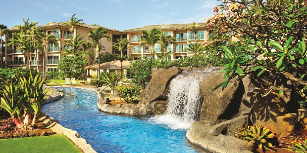 The Waipouli Beach Resort, with self-catering facilities, is a good base for a family holiday.