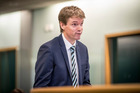 Colin Craig appears in the High Court at Auckland today. Photo / Michael Craig
