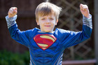 Tyler Resuggan believes he is a 'super' boy because he cannot feel pain. Photo / Caters