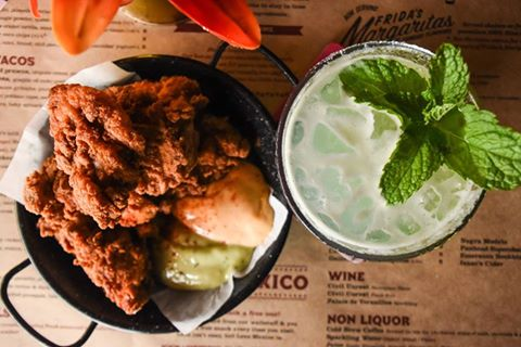 Fried chicken and margaritas from Mexico. Photo / Facebook, Mexico NZ