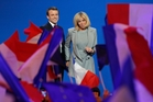Emmanuel Macron says he will govern more effectively if he is happy and that means having his wife, Brigitte Trogneux, at his side. Photo / AP