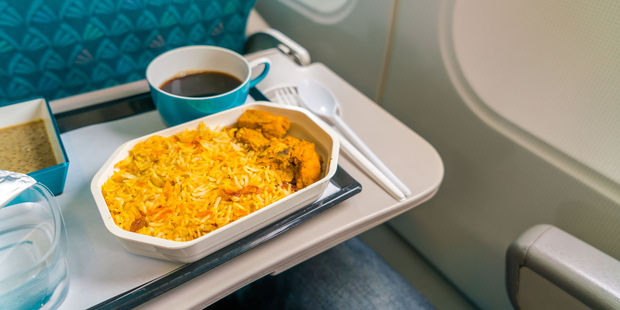 Ben Sabeto said he found a sharp object in his inflight butter chicken. File photo / 123RF