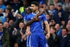 Striker Diego Costa is delighted after scoring for Chelsea. His manager also likes a good celebration. Photo / Getty Images