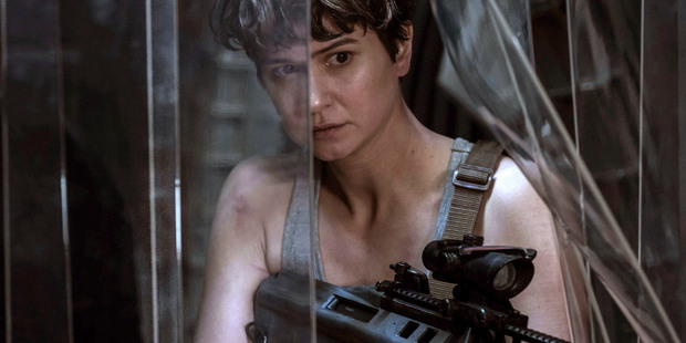 "This image released by Twentieth Century Fox shows Katherine Waterston in a scene from ""Alien: Covenant,"" in theaters on May 19. Almost 40 years after ""Alienâ€"
