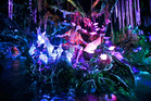 The Na'vi Shaman of Songs celebrates with music in Na'vi River Journey ride at Pandora-World of Avatar land attraction in Disney's Animal Kingdom theme park. Photo/AP