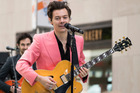Harry Styles performs on NBC's Today show at Rockefeller Plaza in New York. Photo / AP