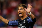 Real Madrid's Cristiano Ronaldo gestures during a Champions League semifinal. Photo / AP