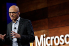 Microsoft CEO Satya Nadella speaks at Microsoft's annual shareholders meeting. Photo / AP