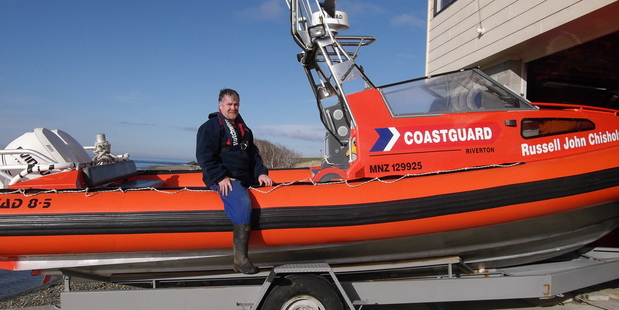 Ian Coard, from Coastguard Riverton, has been honoured with a Gold Award at this year's NZSAR Awards. Photo / Supplies