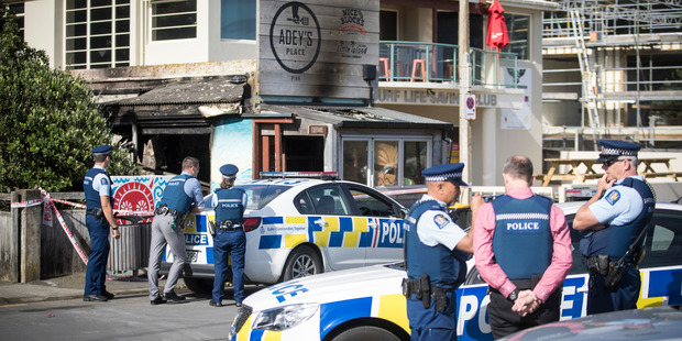 Loading Adey's Place fish and chip shop in Piha was destroyed by a fire. Photo / Jason Oxenham