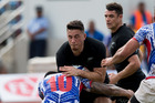 All Blacks player Sonny Bill Williams in action against Samoa in 2015. Photo / Brett Phibbs