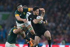Nehe Milner-Skudder in action against South Africa at the Rugby World Cup. Photo / Brett Phibbs