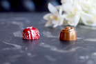 The KFC dark chocolate truffle (left) and milk chocolate truffle. Photo / Supplied