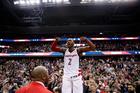 Washington Wizards guard John Wall celebrates. Photo / AP