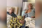 Still holding hands: Delma and Tom Ledbetter, who married 62 years ago, fell ill within days of each other in April and passed away just an hour and a half apart from each other. Photo / Facebook