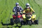 Participants at the recent Elsthorpe Trail Bike Ride in full protective gear.