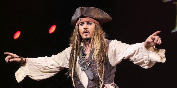 Actor Johnny Depp, dressed as Captain Jack Sparrow. Photo / Getty