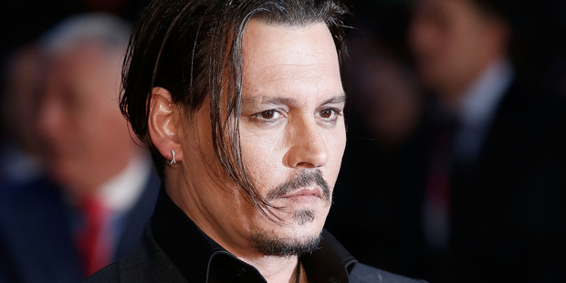 Johnny Depp behaved badly during filming in Australia. Photo / Getty
