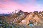 The much-travelled Tongariro Alpine Crossing is about how long? Photo / Getty Images