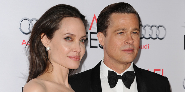 Angelina Jolie and Brad Pitt pictured together in 2015. Photo / Getty Images