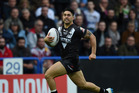 Shaun Johnson in action for the Kiwis. Photo / Getty Images.