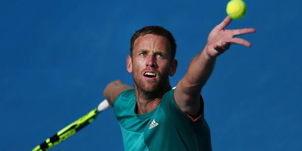 Michael Venus in action during the ASB Classic in Auckland. Photo / Getty Images