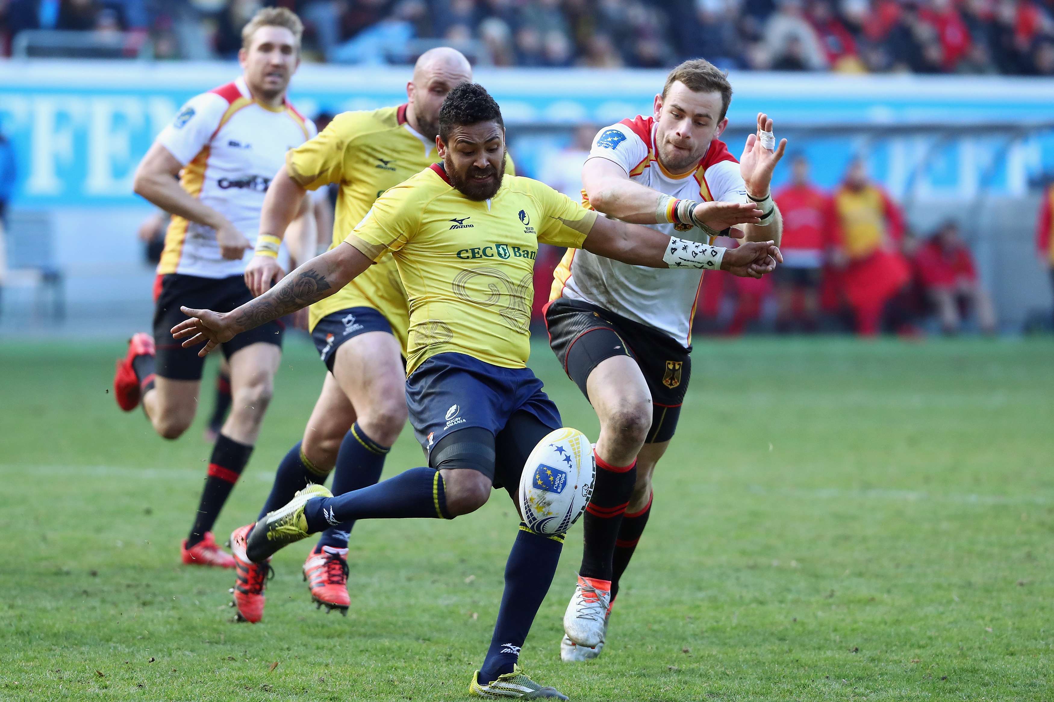 Romania currently leads the race to qualify for RWC 2019 as Europe 1. Photo / Getty Images.