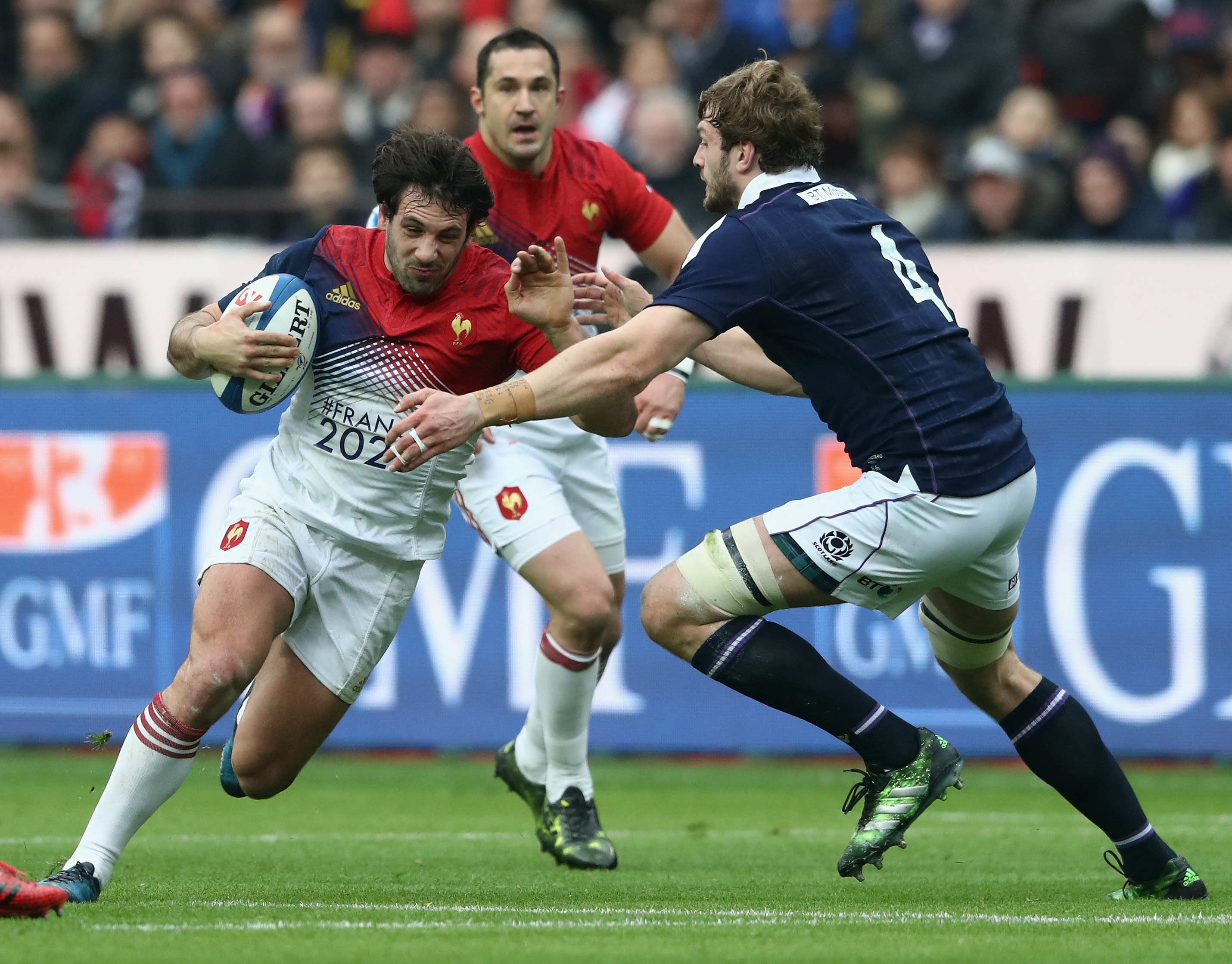 France defeated Scotland in Paris in this year's Six Nations tournament in February. Photo / Getty Images.