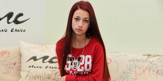 Danielle Bregoli aka the'Cash Me Outside girl visits at Music Choice