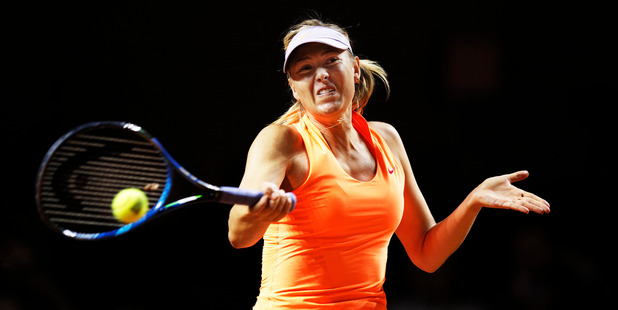 Maria Sharapova during her match against Kristina Mladenovic of France. Photo / Getty Images