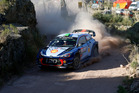 Hayden Paddon in action during Day Three of the WRC Argentina. Photo / Getty Images