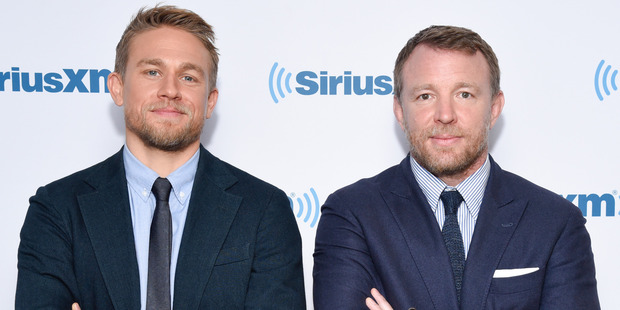 Actor Charlie Hunnam (L) and director Guy Ritchie. Photo / Getty