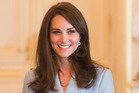 LUXEMBOURG - MAY 11: Catherine, Duchess of Cambridge poses during a visit to the Grand Ducal Palace where she met with the Luxembourg Royal Family on May 11, 2017 in Luxembourg. The Duchess is partic