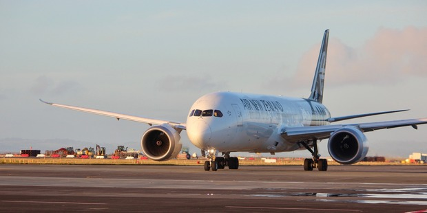 An Air New Zealand Dreamliner at Auckland Airport.  Photo / Grant Bradley