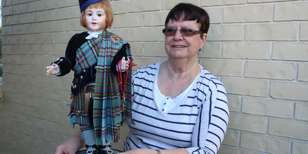 HANDMADE: Carol Prockter with her award winning handcrafted doll Jewel Eyes.  Photo: David Haxton / KAP040517DHdoll