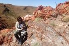University of Auckland astrobiologist Professor Kathy Campbell at the Pilbara of Western Australia, where 3.48 billion year old hot spring deposits have been found. Photo / Supplied