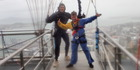Jumping off the Sky Tower? I'm not nervous at all. Photo / Supplied